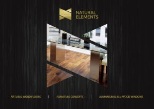 Brochure Design Sample for Wood Flooring, Furniture Co